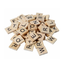 100Pcs/set English Words Wooden Letters Alphabet Tiles Black Scrabble Letters & Numbers For Crafts Woods robert archey woods english social movements