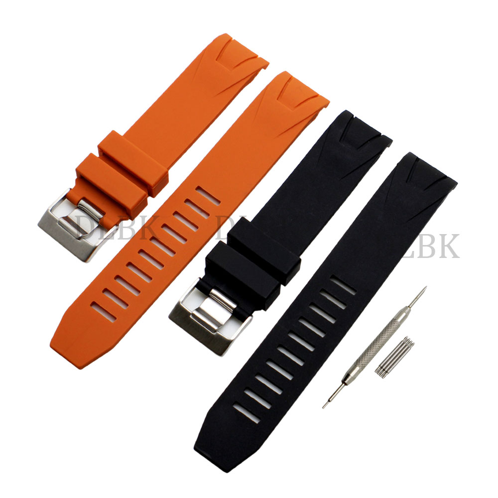 20mm 22mm Black Orange Sport Bracelet Waterproof Diving Silicone Rubber Watch Band Straps Stainless Steel Buckle for Ome+ Tool все цены