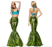 Free shipping skirt+bra mermaid cosplay fancy sexy high quality princess ariel costume party carnival halloween set
