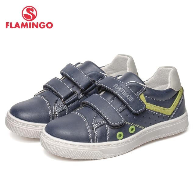 Модная дышащая Уличная Повседневная детская обувь с рисунком фламинго на липучке для мальчиков, размер 25-30, бесплатная доставка, 91P-SW-1294