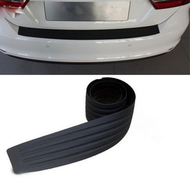 Car Trunk Door Sill Plate Rear Bumper Guard Protector Rubber Pad Trim Cover Auto Bumper Edge Prevent Scratches