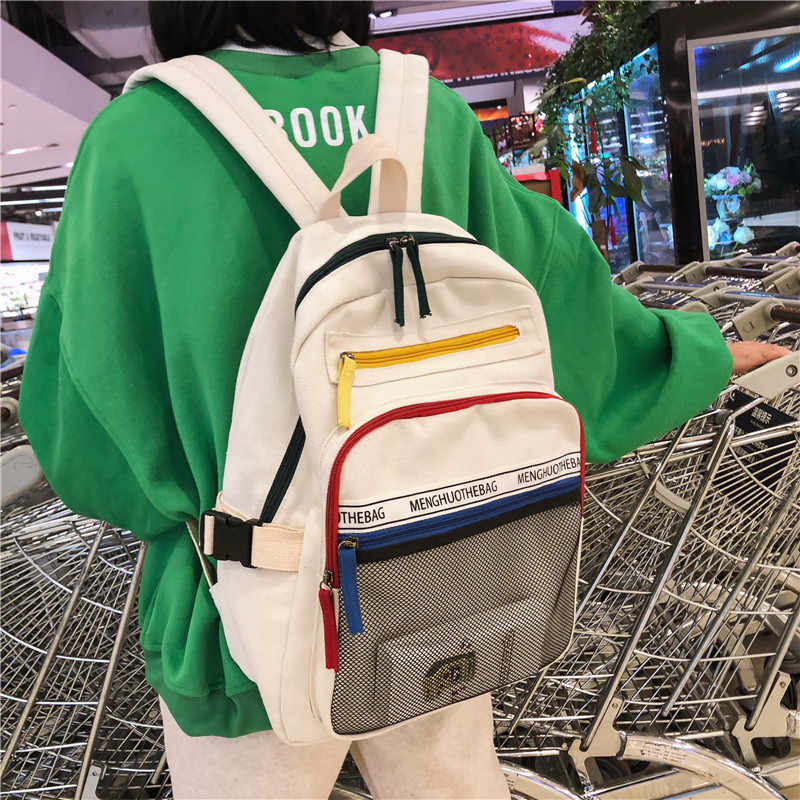 ba3aeec07336 JOYPESSIE fashion Preppy Women backpack Woman canvas backpacks for teenage  girls College student school bags female vintage bag