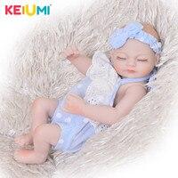 Lovely 11 Inch Mini Doll Reborn Babies Full Silicone Vinyl Body Newborn Dolls Realistic girl Baby Toys Children Birthday Gifts