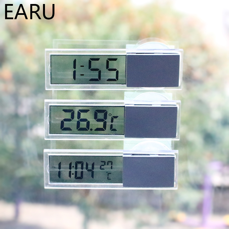 Mini Weather Station Automotive Thermometer Digital Car Temperature Instruments Wall Type Meter LCD Display