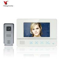 Freeship 7 Inch TFT Touch Screen Color Video Door Phone Cmos Night Version Camera Intercom System