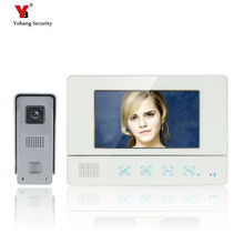 Yobang Security Freeship 7 Inch TFT Touch Screen Color Video Doorbell Phone Cmos Night Version Camera Video Intercom system