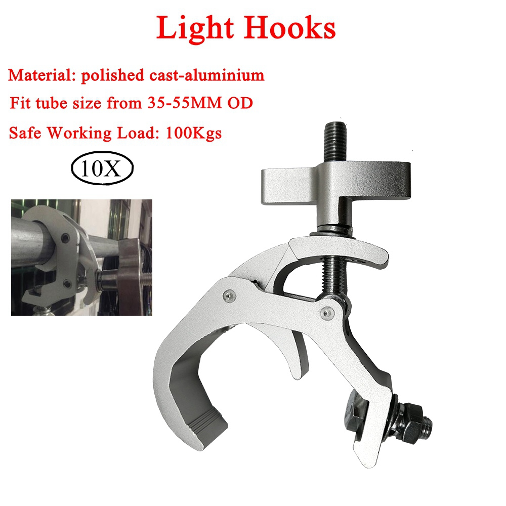 Buy Cheap 10pcs/lot High Quality Aluminum Lights Hook Led Par Hooks Profession Stage Equipment Led Stage Light Truss Dj Club Hanging Hook Stage Lighting Effect