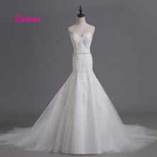 LEIYINXIANG Beading Sexy Mermaid Wedding Dresses Sleeveless