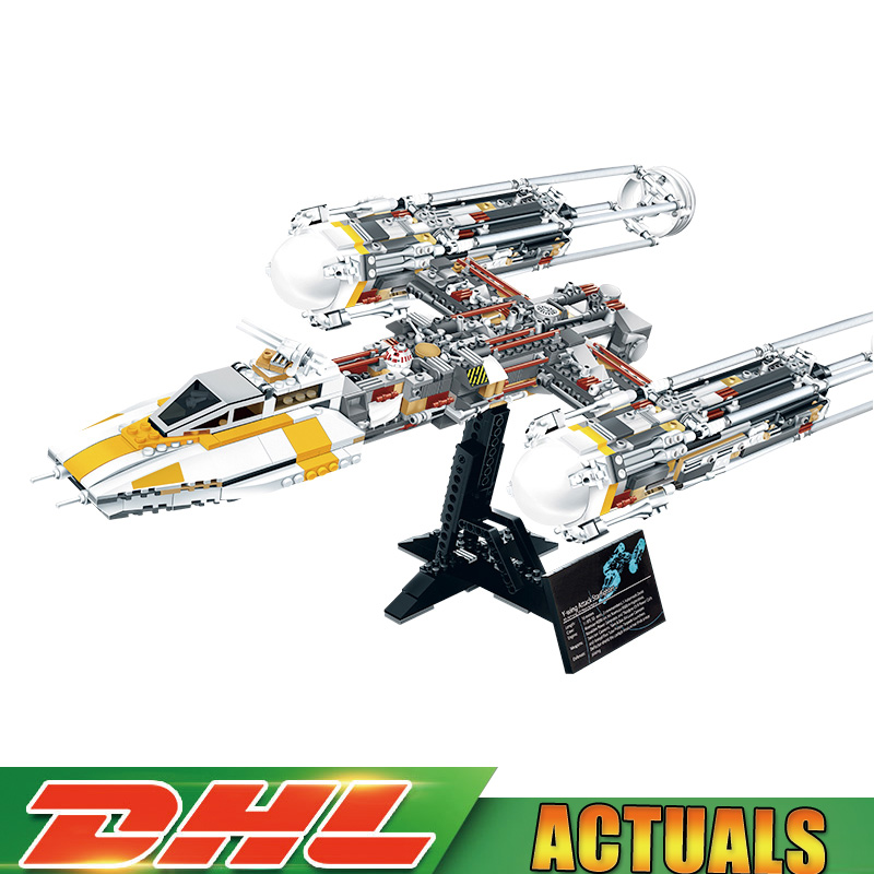 Lepin 05040 Star Wars Y-wing Attack Starfighter Fighter Building Assembled Block Brick DIY Toy Compatible Legoinglys 10134 Gift цена