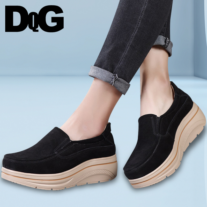 DQG Women Shoes 2018 Autumn New Fashion Solid Slip On Casual Women's Shoes Flat Platform Sapato Feminino Flats Zapatos Mujer байдарка stream хатанга 3