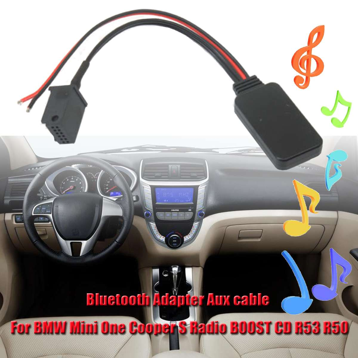 US $8 97 37% OFF|New bluetooth Adapter AUX Audio Cable for BMW Mini for  Cooper S Radio for BOOST CD R53 R50 Speaker Line Subwoofer Cable-in Speaker