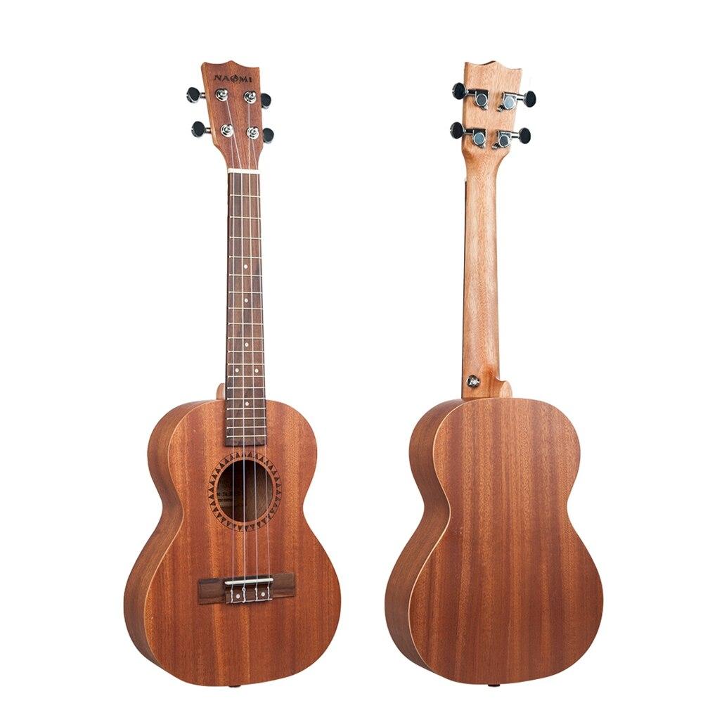 NAOMI cordes Instrument de musique 26 pouces ukulélé Sapele palissandre Nylon jouet guitare Ukeleles pour débutants enfants en bas âge - 6