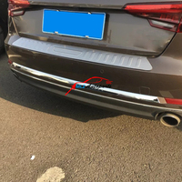 Car Rear Tail Trunk Fog Light Middle Bumper Lid Strip Cover Trim ABS Chrome For Audi A4 B9 8W 2017