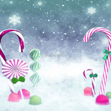 Snow Candy 8'x8′ CP Computer-painted Scenic Photography Background Photo Studio Backdrop ZJZ-887