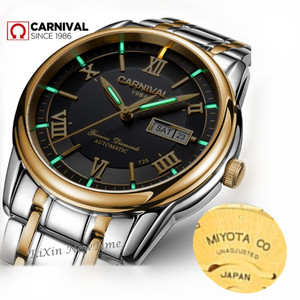 Image 3 - カーニバル男性腕時計御代田自動T25 トリチウム発光機械式時計の男性トップブランドの高級時計リロイフルスチールレロジオ