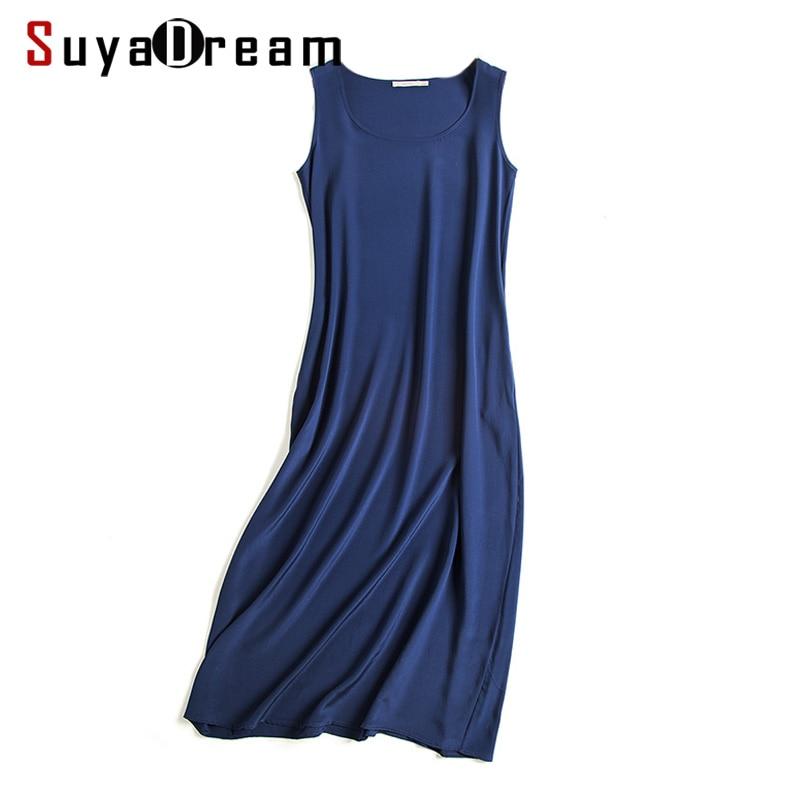 Women long dress 19MM 100% silk Sleeveless dress
