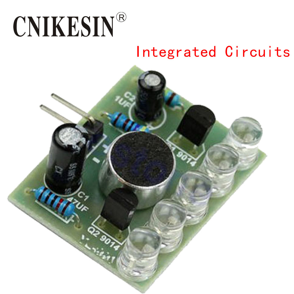 CNIKESIN DIY Electronics Sound Control LED Melody Lamp Electronic Production DIY Kits Suite New Integrated Circuits