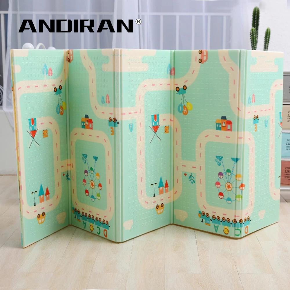 Épaissi 1.5 cm tapis de jeu 200*180 cm pliable dessin animé bébé tapis de jeu enfants ramper Pad Puzzle antidérapant tapis de jeu