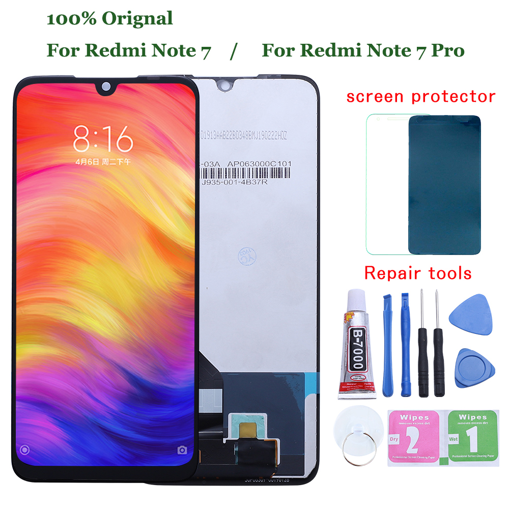 Original for Xiaomi Redmi Note 7 LCD Display Screen Touch Digitizer Assembly Redmi Note7 Pro LCD Display 10 Touch Repair Parts|Mobile Phone LCD Screens|   - AliExpress