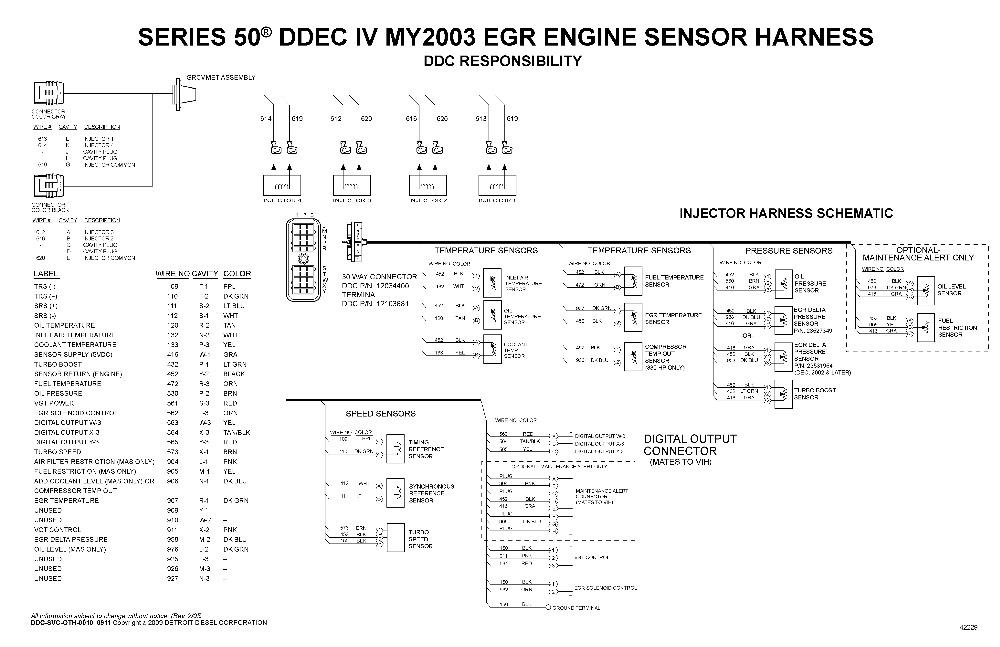 Detroit Diesel Series 50,50G, 60, DDECVI,DDEC10,DDEC13,MBE Electronic Wiring Schematicsin