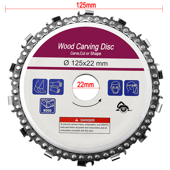 5 Inch 14 Tooth Grinder Chainsaw Disc for Cutting Wood Saw Blade Chain  Circular 125x22mm