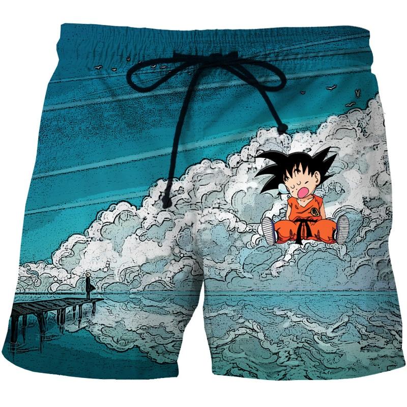 Cloudstyle Dragon Ball 3D   Shorts   Men Cute Kid Goku 3D Print Anime Funny   Board     Shorts   Elastic Swimwear Summer Vacation Beach