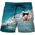 Cloudstyle Dragon Ball 3D <font><b>Shorts</b></font> Men Cute Kid Goku 3D Print Anime Funny <font><b>Board</b></font> <font><b>Shorts</b></font> Elastic Swimwear Summer Vacation Beach