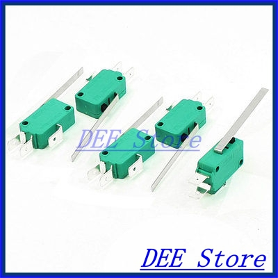 Lighting Accessories 250vac 16a Spdt 3-pin Long Straight Hinge Lever Mini Microswitch Green