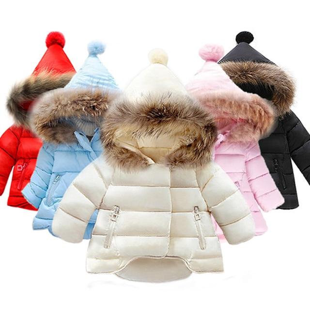 8e7350332 Boys Winter Coat Baby Girls Jacket Kids Warm Outerwear Children Coat ...