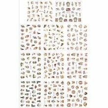 Самоклеящиеся 3D татуировки для ногтей 11 шт./лот, имитация симуляции, наклейка на религиозную тему, Бог, отец, Иисус, ангел, детская фотосессия