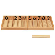 Baby Toy Montessori Wood Spindle Box Mathematics Learning Educational Toys for Toddlers Montessori Materials Birthday Gift ME216