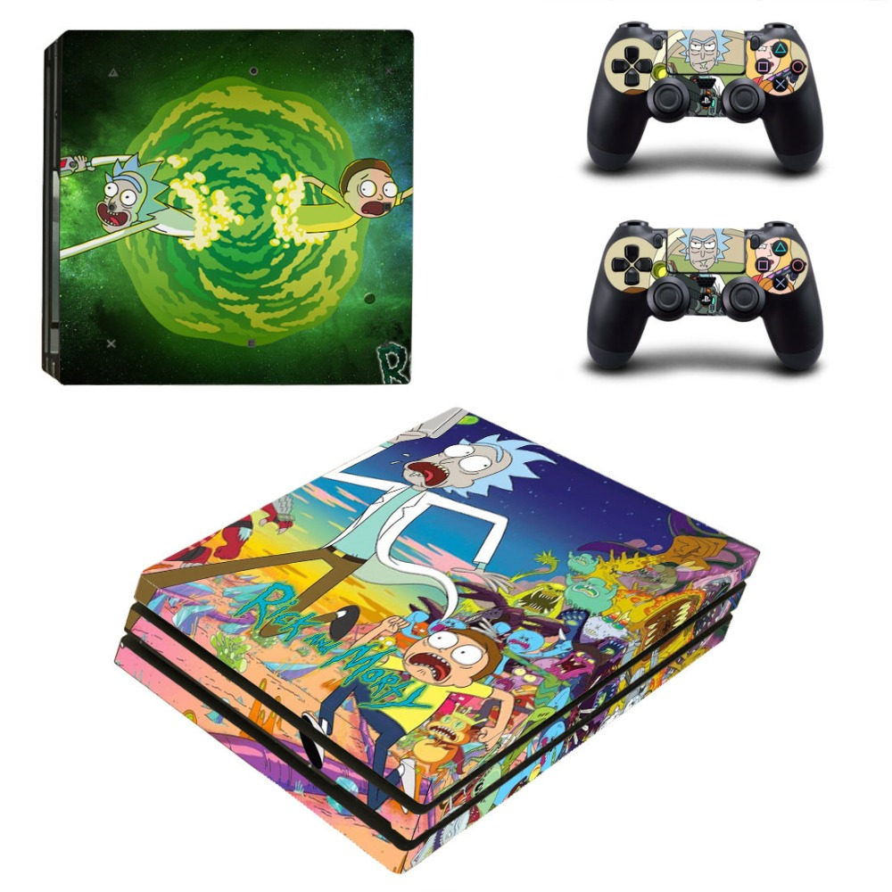 Video Game Accessories Rick And Morty Ps4 Skin For Playstation 4 Console And Controllers Faceplates, Decals & Stickers