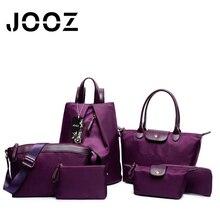 Jooz Brand Luxury Nylon Female bag Lady Leather 6 Pcs Composite Bags Set Women Shoulder Crossbody Bags Handbag Purse Clutch