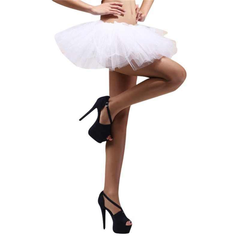 נשים של קלאסי 5 שכבות טוטו חצאית טול תחתונית בלט רוקד בועה חצאיות קצר לנשף להתלבש