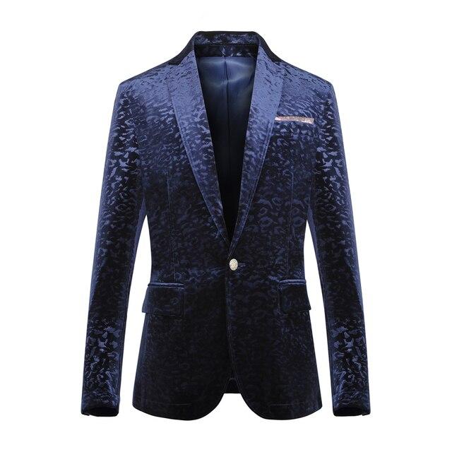 Мужская одежда весной и осенью мужской золотой бархат костюм blazer мужская одежда вечернее платье тонкий блейзер куртка для певица танцор