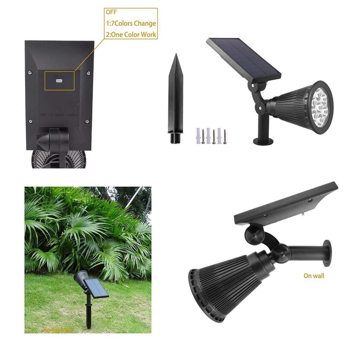 holofotes luzes solares ao ar livre à
