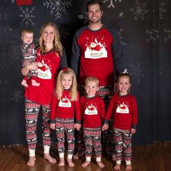Conjunto De Pijamas De Navidad Para Familia Juego De Pijamas De