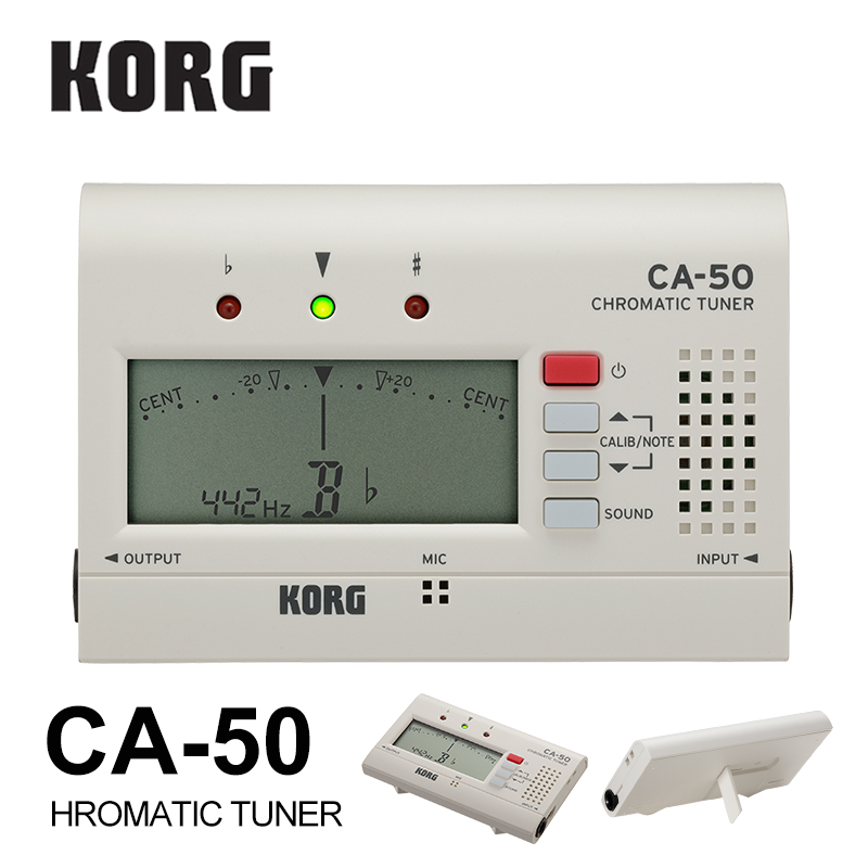 KORG CA50 Compact Chromatic Tuner Bass/Saxophone/ Violin/ Flute Tuner Universal Tuner [Great for brass band or orchestra]