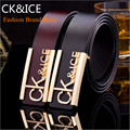 Top Belts 2016 Men Luxury famous Brand CK&ICE Smooth Buckle Designer temperament men genuine leather Belt