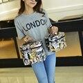 Revista de Moda de LA PU cubierta de la caja de Cosméticos 2017 nueva mujer bolsa de cosméticos de almacenamiento de gran capacidad de las mujeres de viaje tocador de maquillaje bolsa