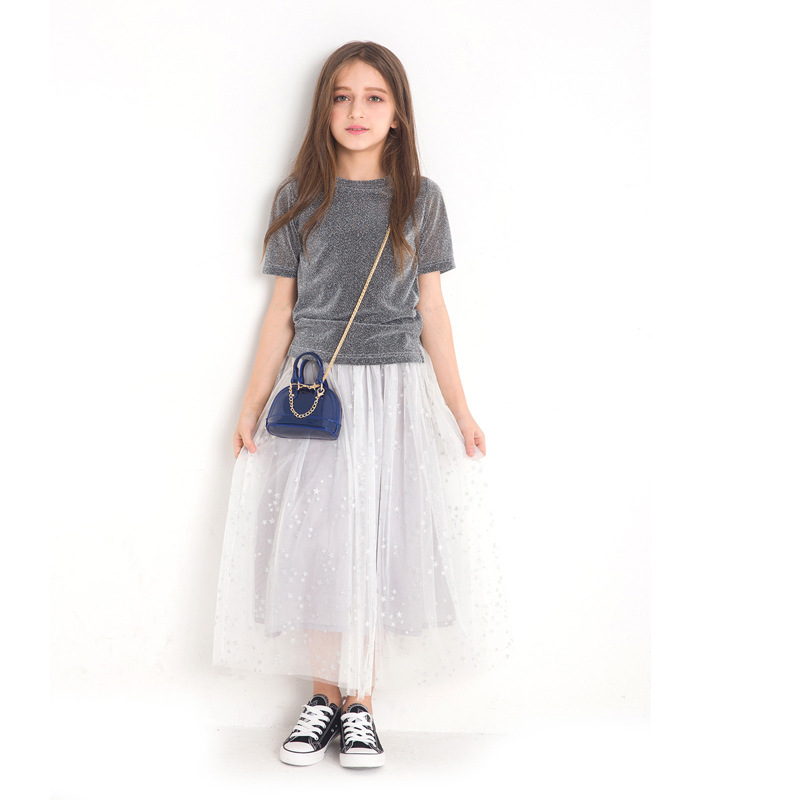 Children Clothing sets 2018 New Summer Fashion kids cotton T-shirt+Skirt 2Pcs teenager clothes for girl Outfits 6 8 10 12 14Year teenage girls clothing sets for teens girl children summer half sleeves t shirts skirt pants 11 12 13 14 kids clothes 2pcs sets
