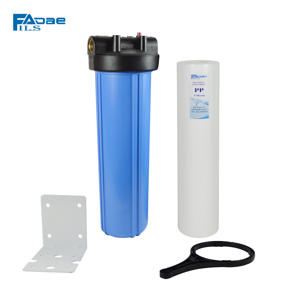 Whole house Water Filter with 4.5in.x20in. PP Sediment filter 5micron/Mounting bracket/wrench,,remove the dirt, sand, silt etc.