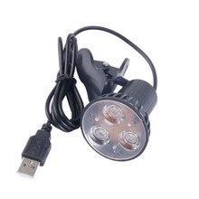 Deek-робот гибкий супер яркий 3 LED Клип на Спот USB свет лампы черный для ПК работы на компьютере ночью защита глаз