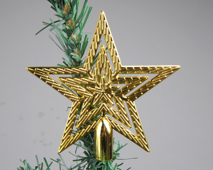 Us 10 89 10pcs Hot Sale New Cute 10cm Gold Christmas Star Christmas Tree Toppers Christmas Tree Ornaments Xmas In Tree Toppers From Home Garden On