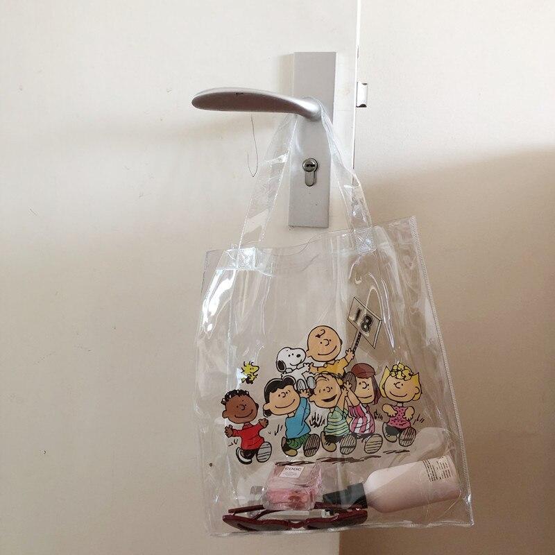 Cheng Pin Ins Rogue Dog Colorful Pattern Popular Fashion Beach Bags Pencil Bag Waterproof Totes Handbag Document Bag 6
