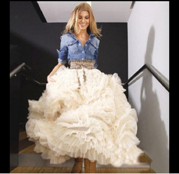 2015 New Fashion Long Black Tutu Skirt Ball Gown Womens Vintage Tulle Puffy Skirts Plus Size In From