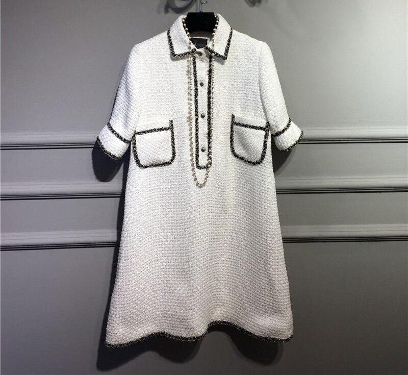 women elegant office dress,custom plus size xs 6xl,tweed winter dress,ladies vestidos de fiesta,tweed autumn White dress
