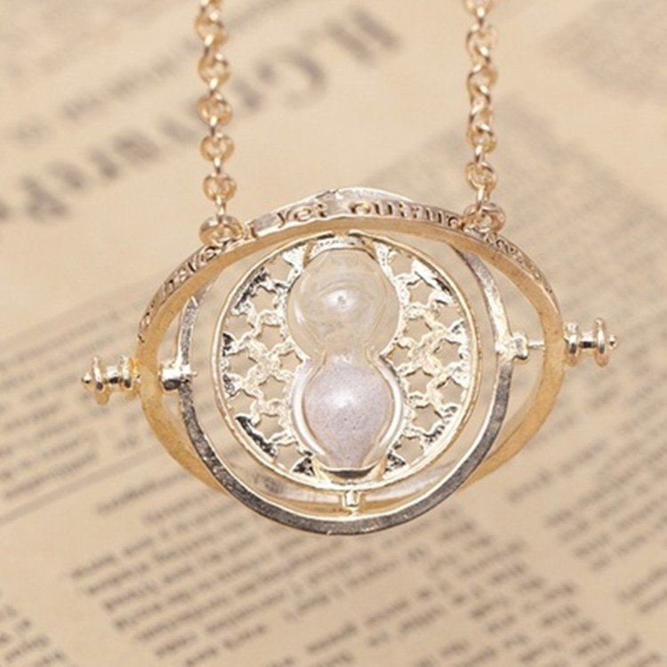 150 Pcs/lot Harri Potter time turner Necklace hourglass Pendants toy gifts-in Action & Toy Figures from Toys & Hobbies    3