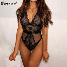 BEVENCCEL 2019 Sexy Black Spaghetti Straps V Neck Lace Hollow Out Bodycon Women