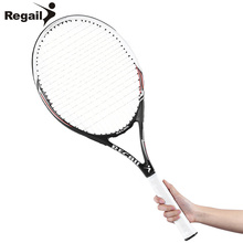 Buy REGAIL Training Competitive Carbon Aluminum Alloy Tennis Racket Racquets Equipped